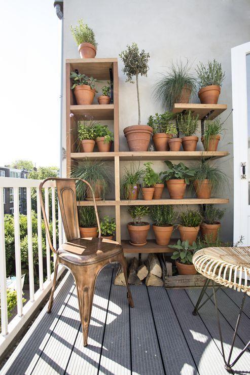 Balcony herb garden #kräutergartenbalkon