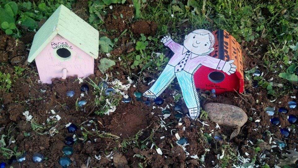 This is our version of a fairy garden And my daughter\u0027s preschool