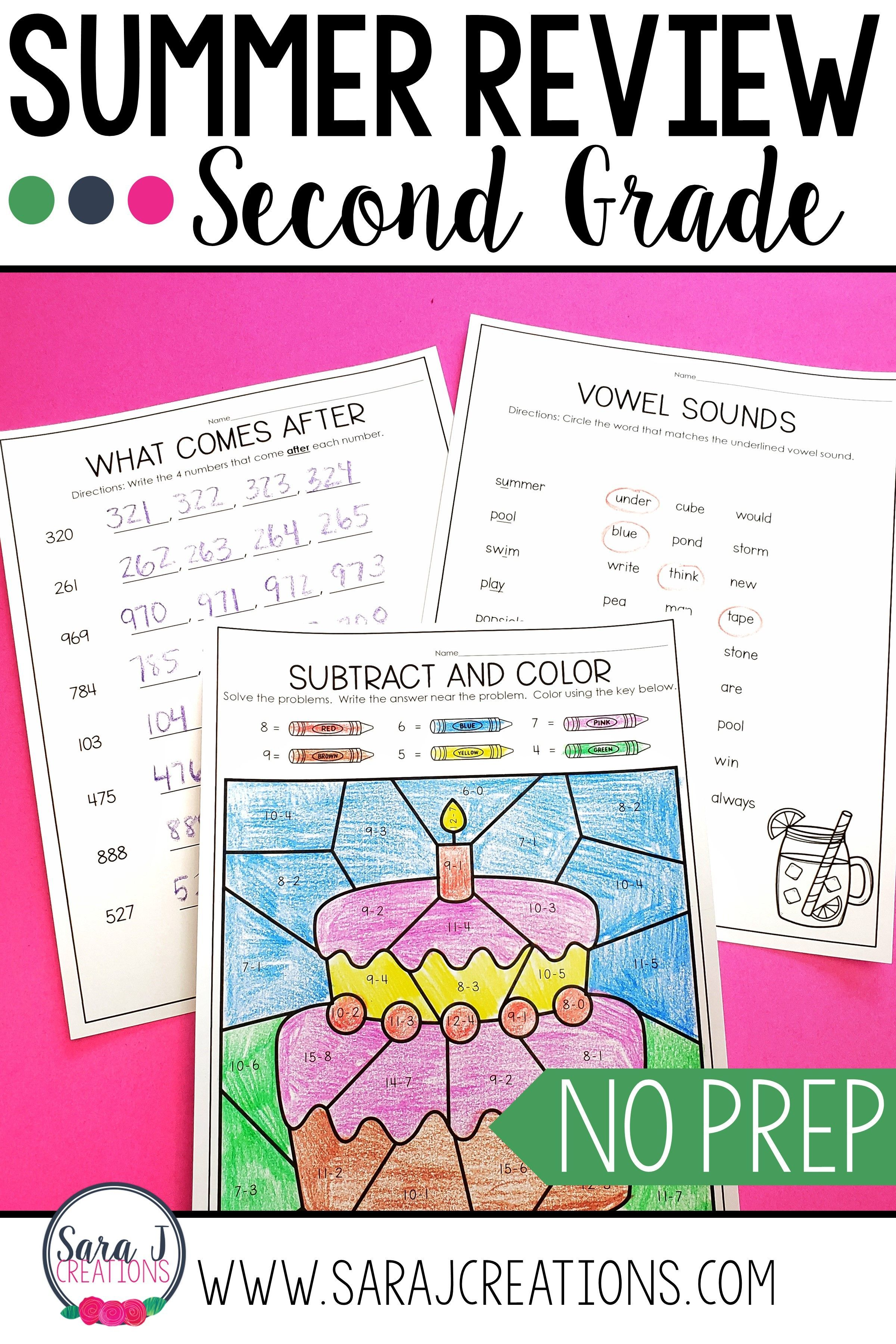 2nd Grade Summer Review Packet In