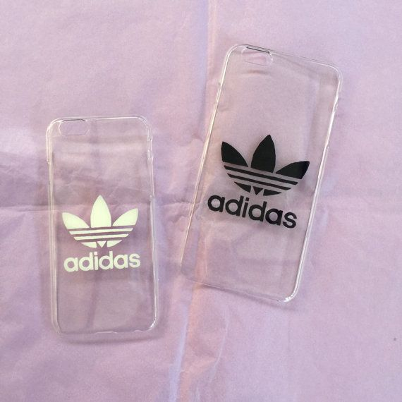 transparent hard iphone cover case with adidas logo 5 6 by. Black Bedroom Furniture Sets. Home Design Ideas