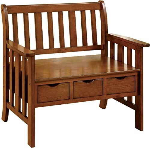 Chic Furniture Of America Peyton Accent Bench With 3