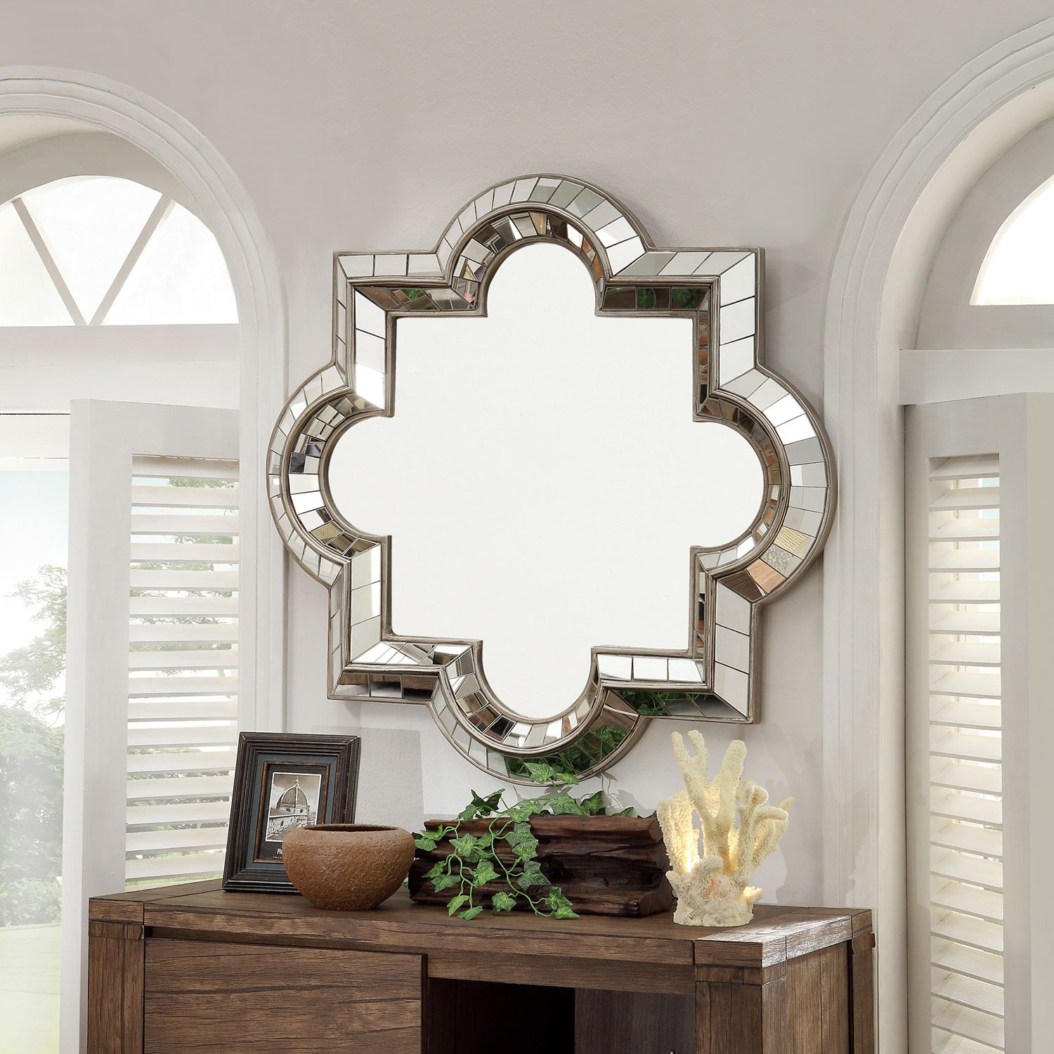 INSPIRE Q Olympia Morrocan Mirrored Frame Accent Wall Mirror by iNSPIRE Q