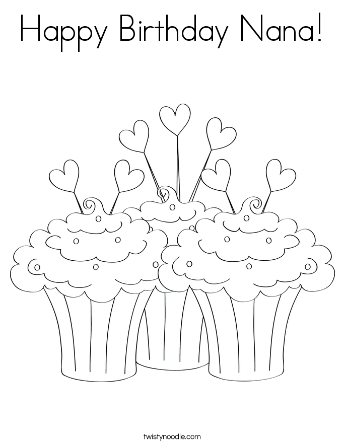 Happy Birthday Nana Coloring Page Toddler Valentines Day Rhpinterest: Happy Birthday Coloring Pages For Kindergarten At Baymontmadison.com