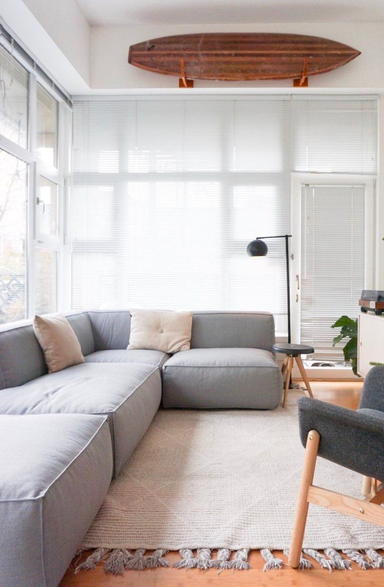 A Modular Sofa for Our Small Space | home | Small apartment ...