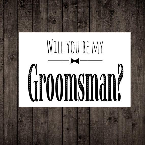 Will You Be My Groomsman Wedding Card Groomsman Proposal Card Our Groomsman