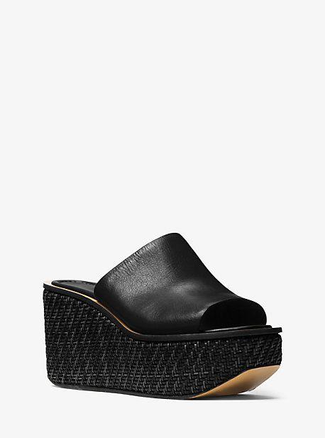 Jane Leather Slide Platform Wedge Sandals e7e1439ad