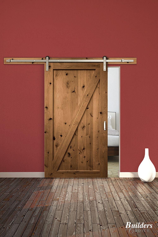 Knotty Alder Z Style Wood Barn Door Barndoor In 2020 Custom Interior Doors Wood Barn Door Custom Exterior Doors