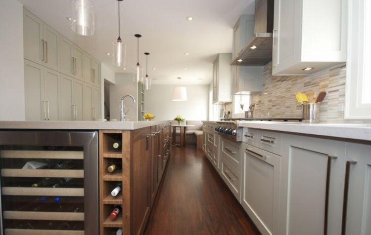 Lamparas de cocina modernas para una iluminación práctica   Cocina ...