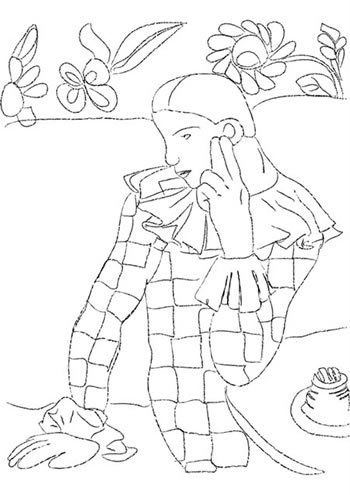 picaso arlequin.jpg | Coloring Book | Pinterest | Picasso and ...