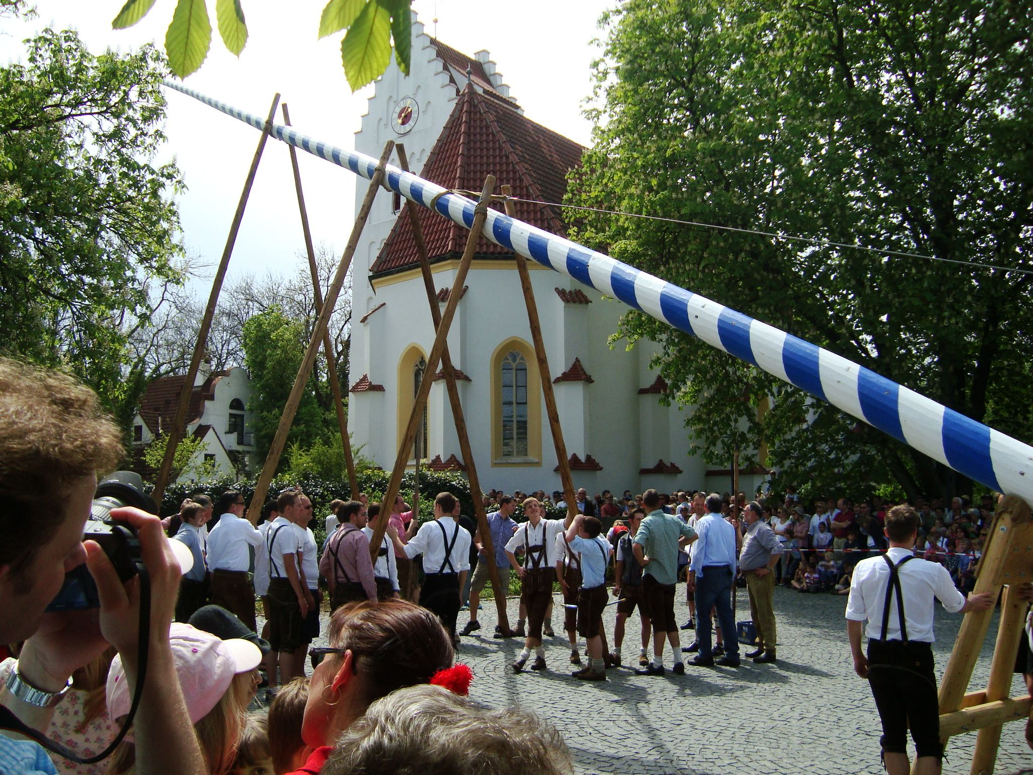 May Day In Bavaria Maibaumaufstellen Bavaria State Holidays German History