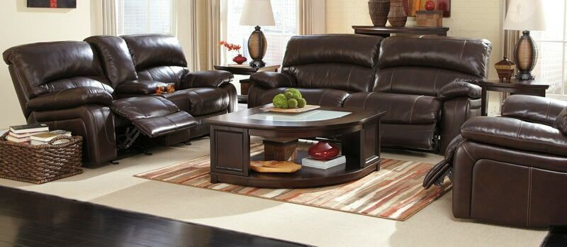 Ashley Furniture U98200 47 91 2 Pc Damacio Dark Brown Leather