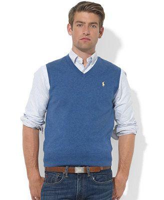 16c25c2ccde Polo Ralph Lauren Pima-Cotton V-Neck Vest