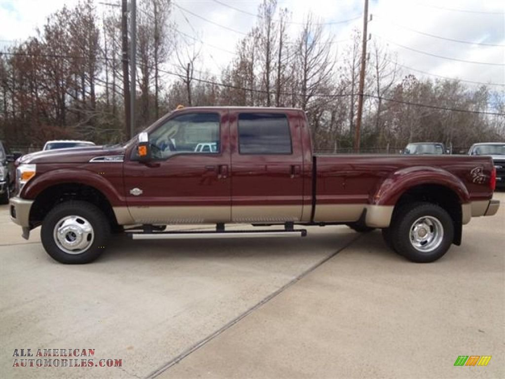 his baby 2012 ford 350 king ranch dually pics 2012 ford f350 super duty king ranch crew cab 4x4 dually in autumn red  [ 1024 x 768 Pixel ]
