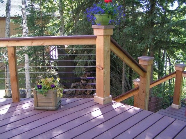 Deck Railing Code Horizontal Cable Stair Design