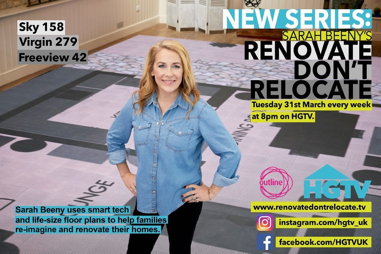 We are being featured on hgtv_uk's Sarah Beeny's Renovate