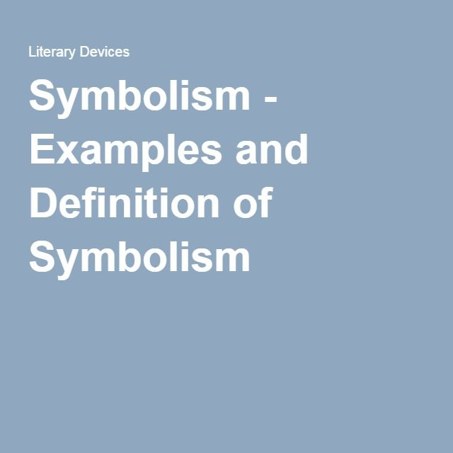 Symbolism Examples And Definition Of Symbolism Homeschool