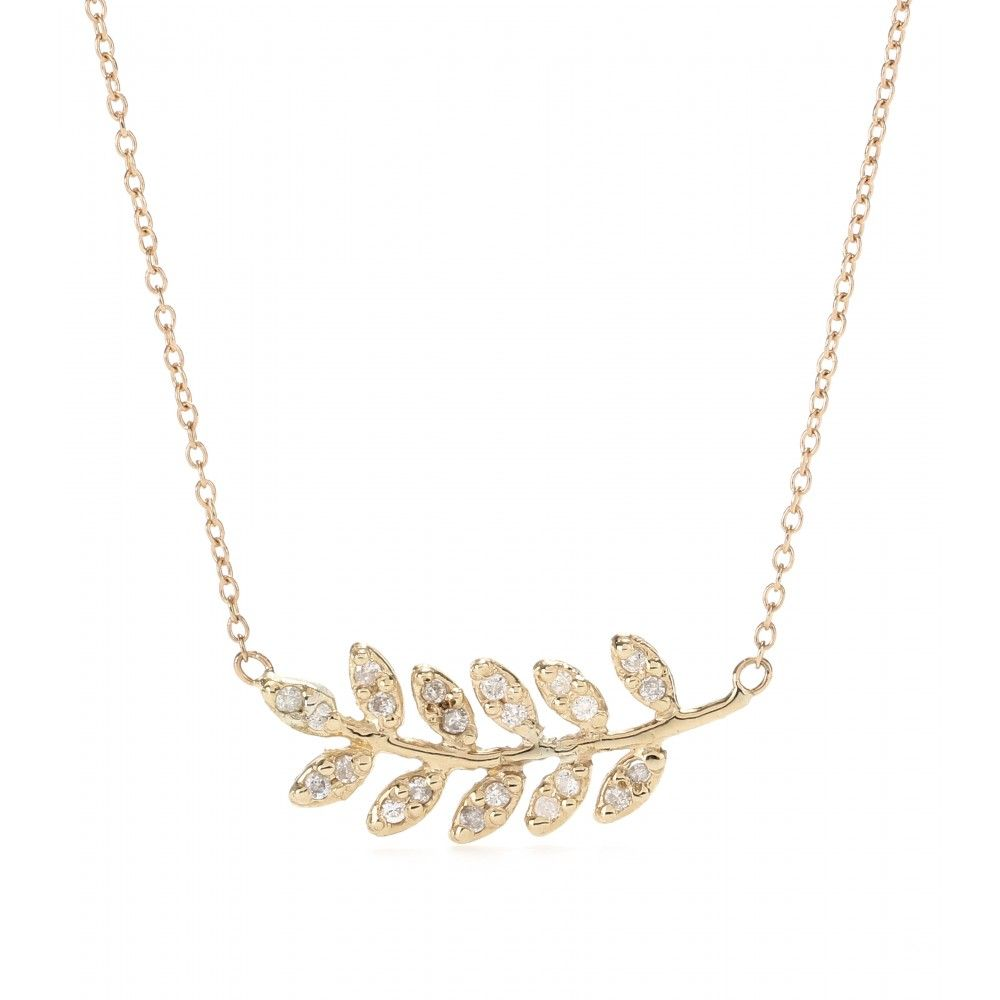 hi soft leaf necklace res rickis pendant gold