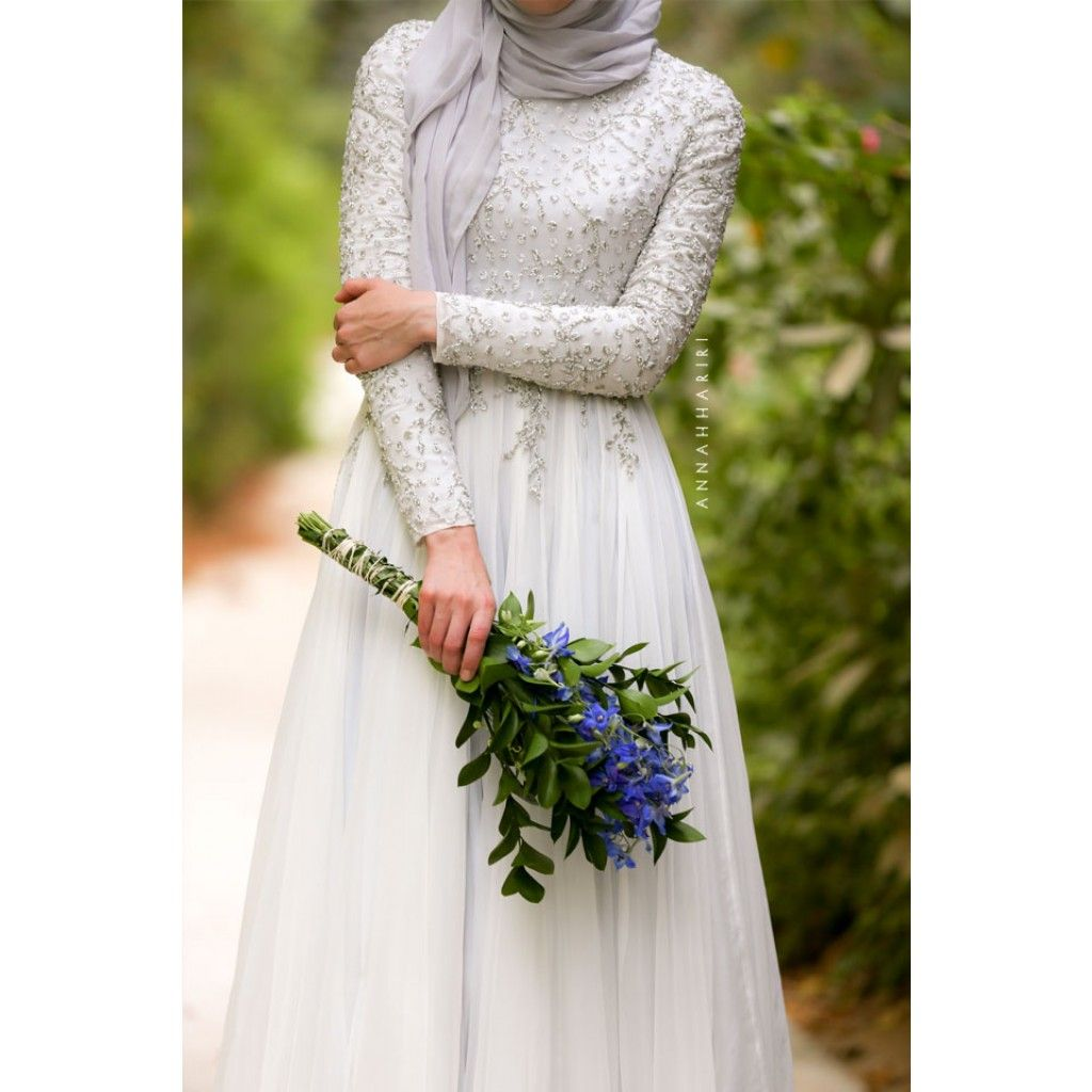 bf4b75d165fa7 Delphinium Gown. Delphinium Gown by Anna Hariri Modest White Dress ...