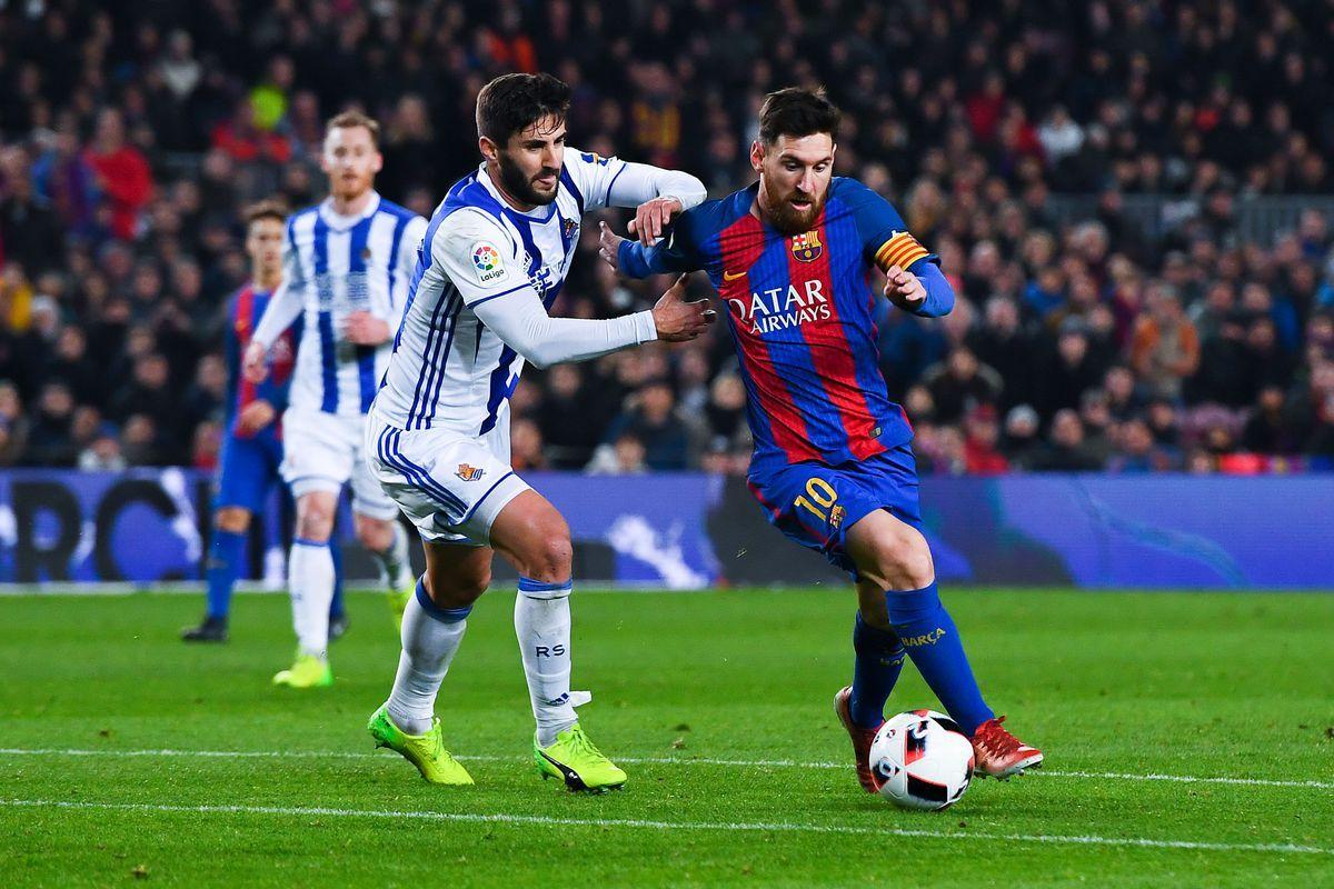 نتيجة مباراة برشلونة وريال سوسيداد اليوم وملخص مواجهة البلوجرانا على ملعب أنويتا في الليجا Messi Barcelona Real Sociedad