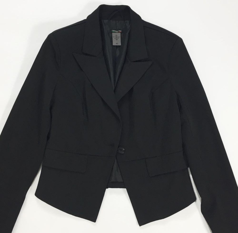brand new d7b99 ade24 Giacca blazer nera giacchetta jacket donna 42 44 usata corta ...