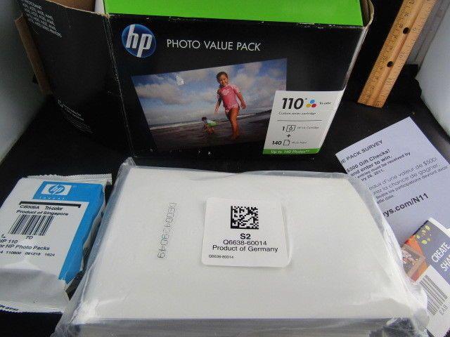 Hp Tri Color Ink Cartridge Photo Value Pack 110 Series Exp Dec 2011 Hp