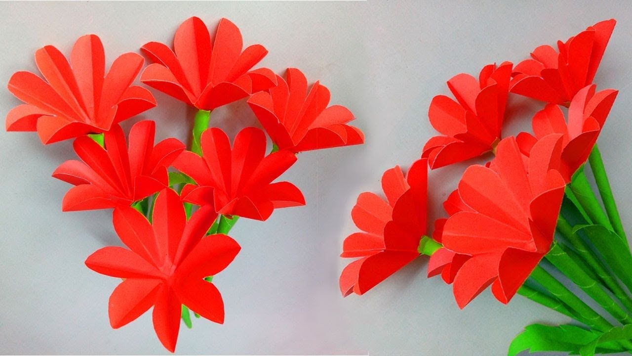 How To Make Paper Flowers Step By Step Easy Paper Crafts Paper