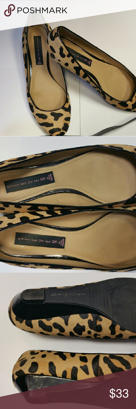 Steve madden flats Steve madden animal print flats with small heel great condition Steve Madden Shoes Flats & Loafers