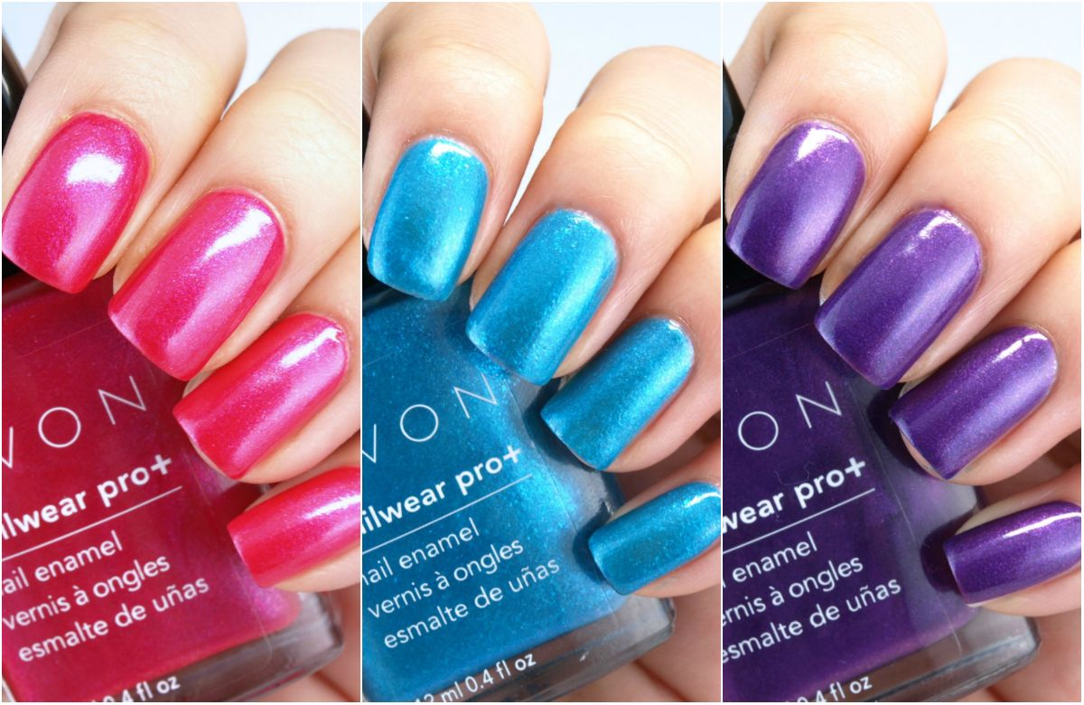 Avon Electric Shades Collection Nailwear Pro Nail Enamel Review And Swatches Avon Nails