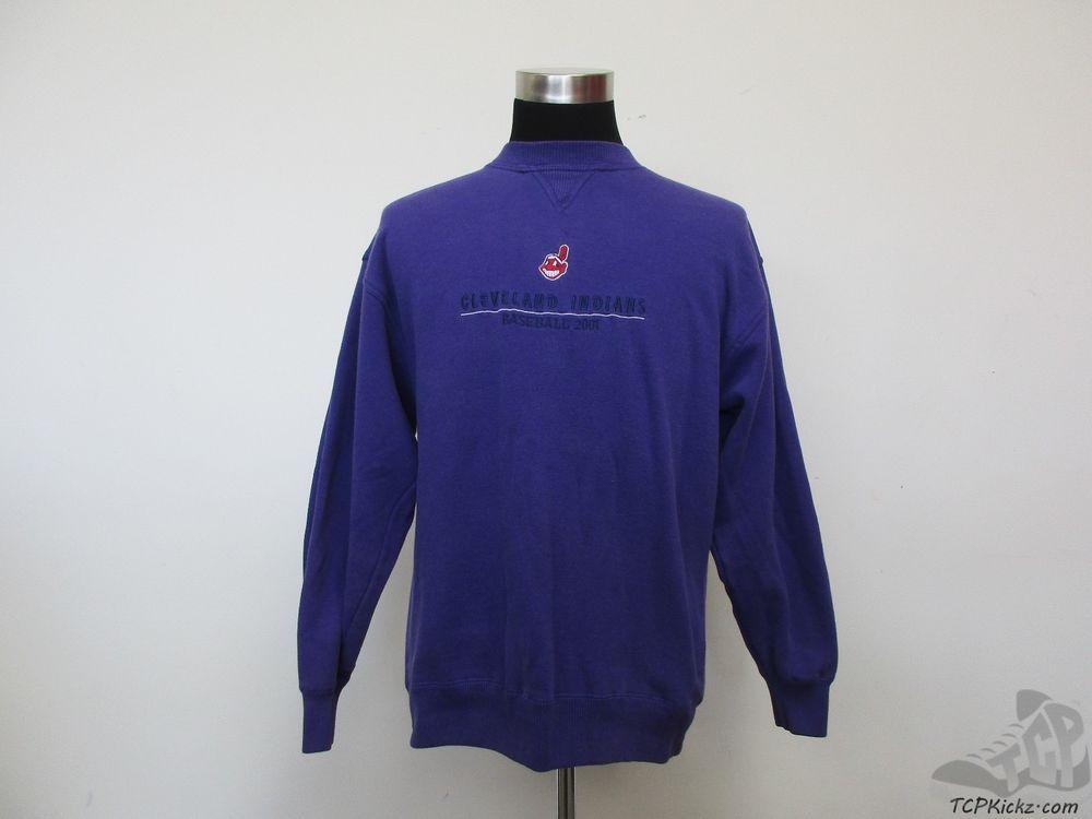 low priced c4bd3 59e70 Vtg 90s Crable Cleveland Indians Crewneck Sweatshirt sz L ...