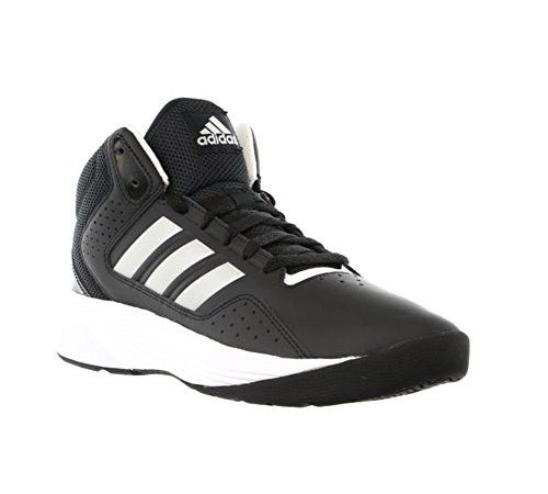 sports shoes 42b26 b0105 Adidas Performance Mens Cloudfoam Ilation Mid Basketball Shoe,BlackMetallic  SilverWhite,11 M US