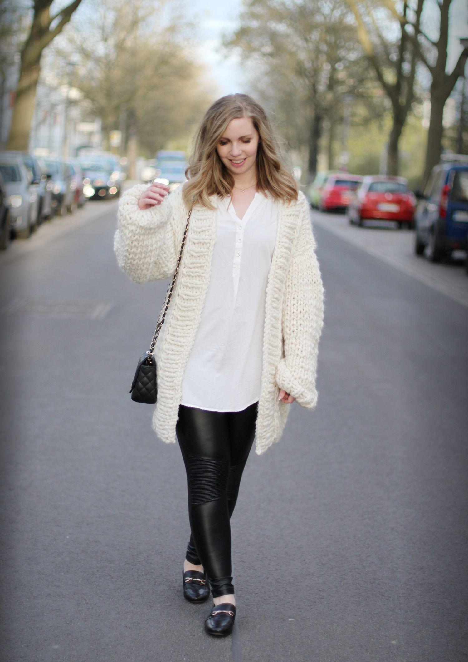 We Are Knitters Simone Cardigan Diy Strickset Lederleggings