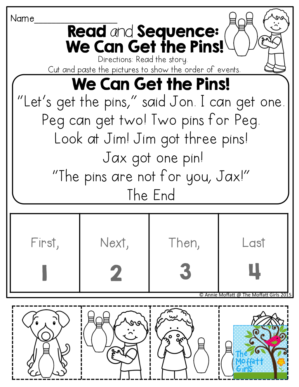 Read And Sequence A Simple Story Read The Simple Story Cut And Paste The Pictures To Show The