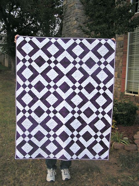 The Fleming's Nine: Two Color Quilt - Purple | Quilts | Pinterest ... : purple and white quilt - Adamdwight.com
