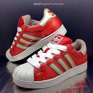 White Vtg 37 Eu Sz Trainers Superstar Red 4 Adidas Womens 5 dCtsQrhx