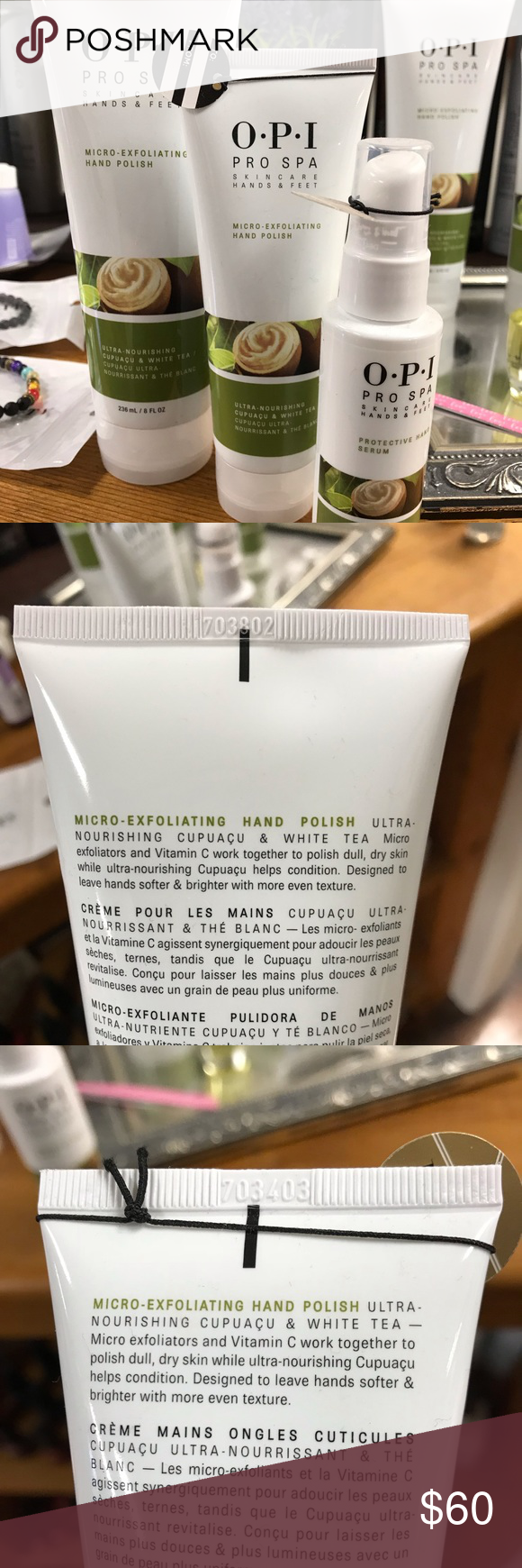 O P I Brand Pro Spa Line Skincare Hands And Feet O P I Pro Spa Skincare Line For Hands And Feet Micro Exfoliating Hand P Skin Care Spa How To Apply Skin Care