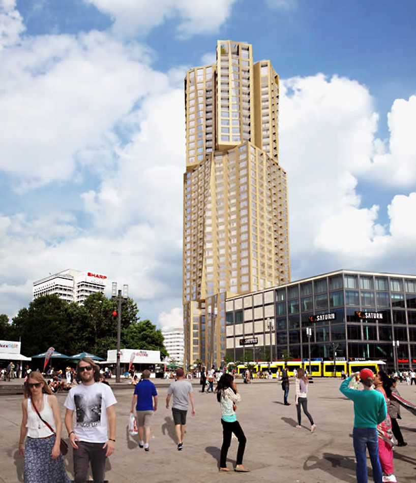 frank gehry chosen to complete tallest residential tower in berlin, germany