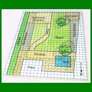 gartenplan mit pool, gartenplan zeichnen, maßstabgerechten plan zeichnen   garten, Design ideen