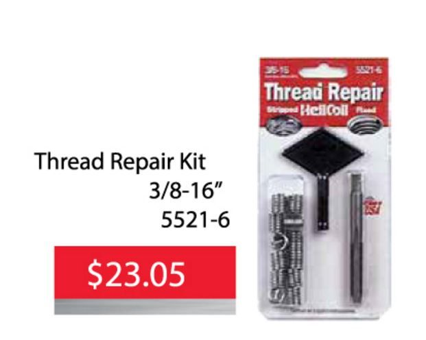 Helicoil Thread Repair Kit 5521 6 Is Only 2305 Until June 30 2016