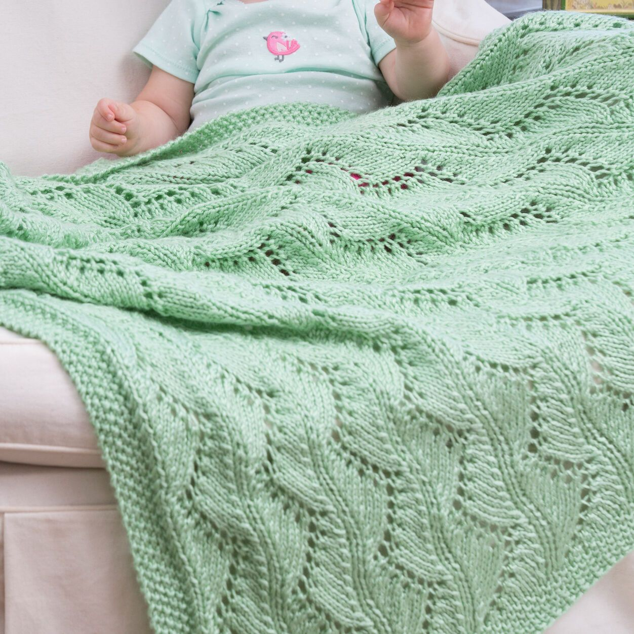 Red Heart Lace Chevrons Baby Blanket | Chevron baby ...