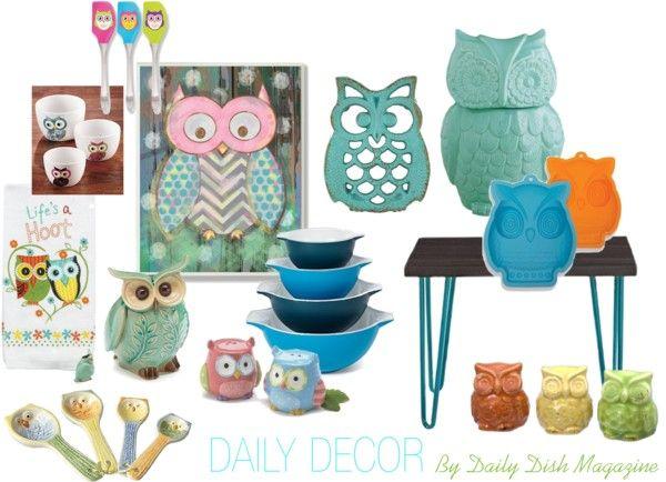 Beautiful Whimsical Owl Kitchen Decor