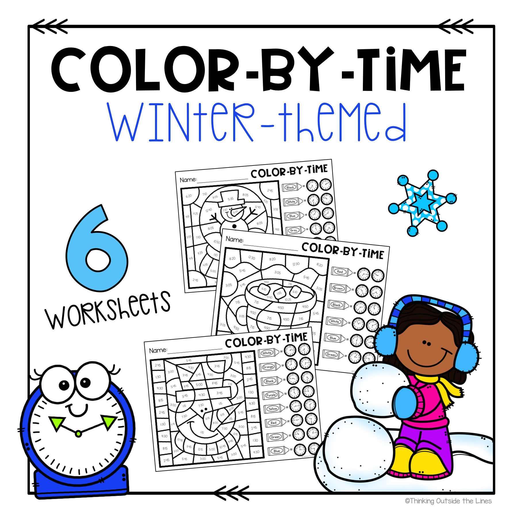 Winter Color By Time In