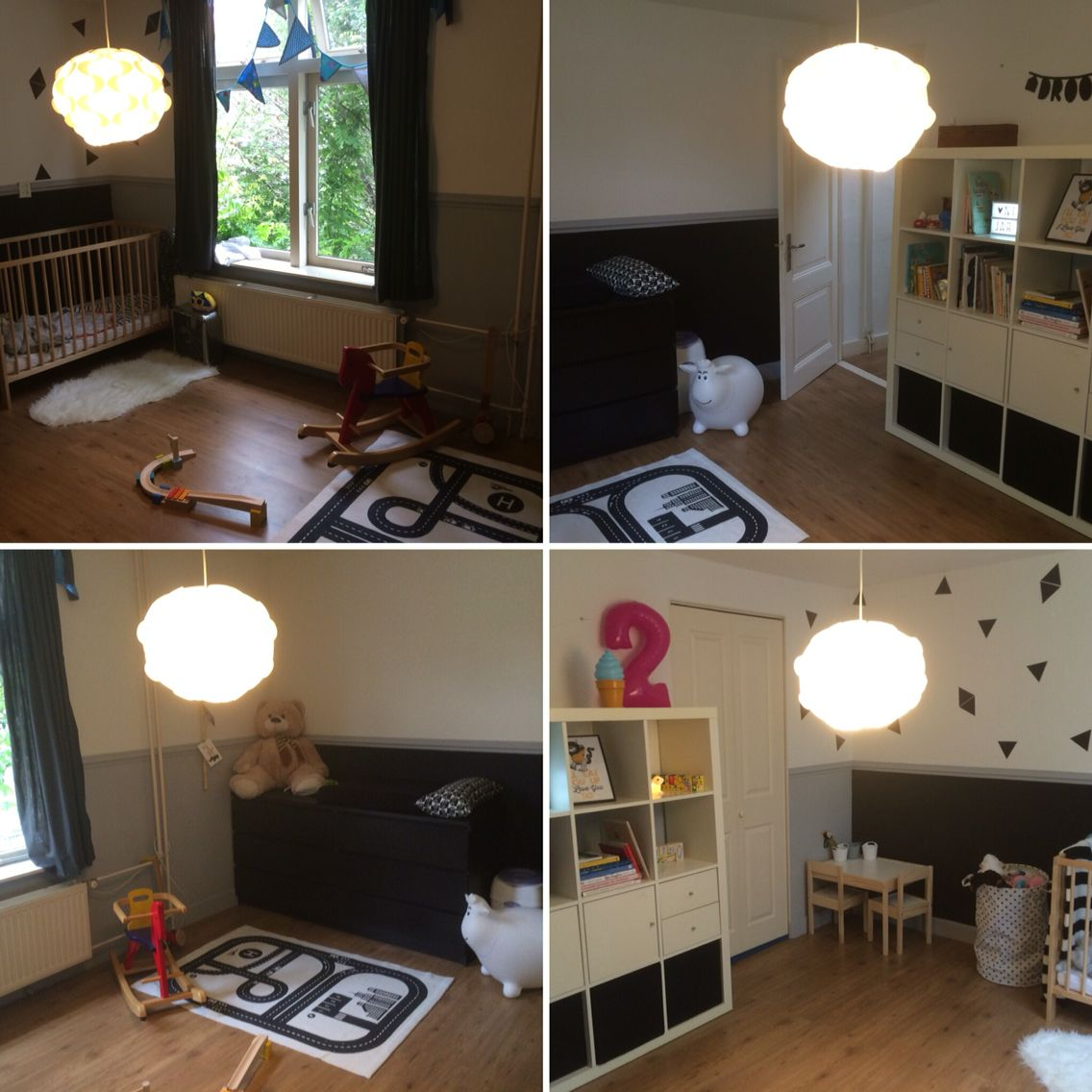 Kinderkamer zwart/wit Ikea