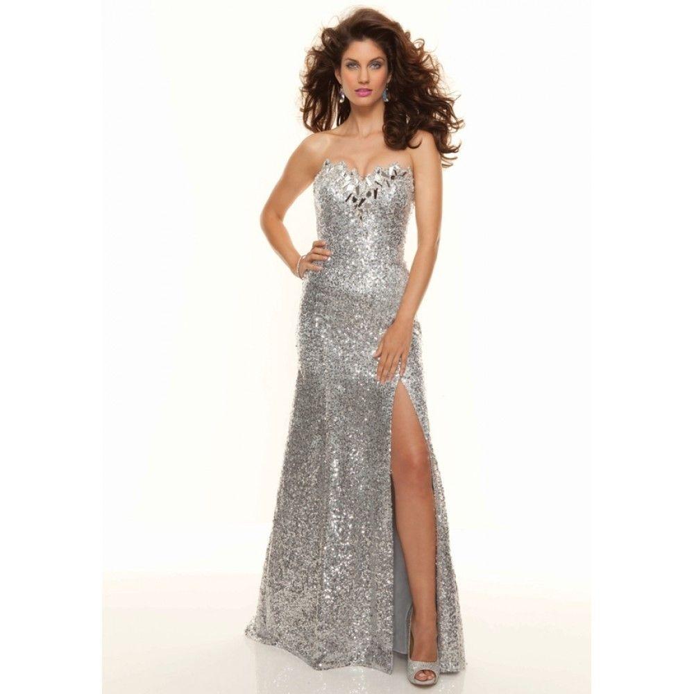 Ziemlich Metallic Prom Kleid Zeitgenössisch - Brautkleider Ideen ...