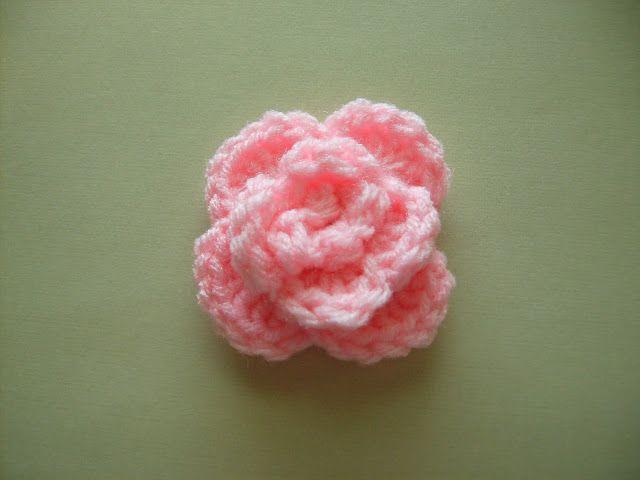 Free Rose Crochet Pattern Crochet Flowers Leaves Pinterest