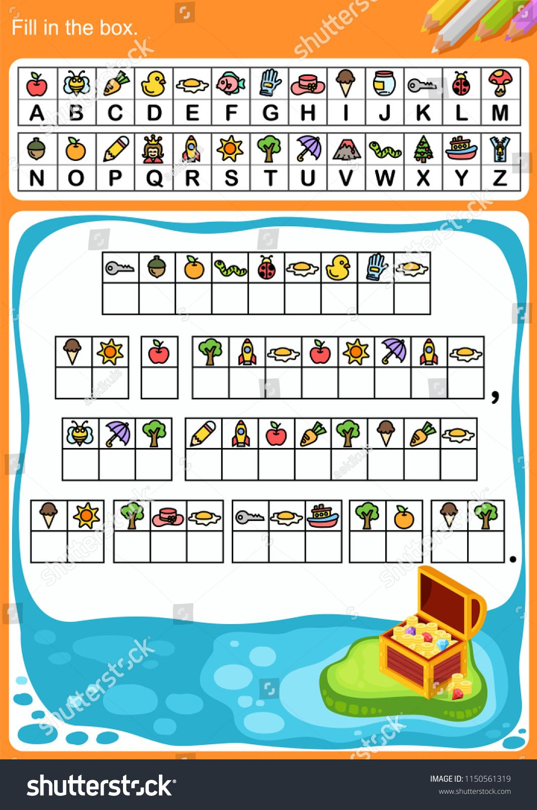 Decode Alphabet Fill In The Box