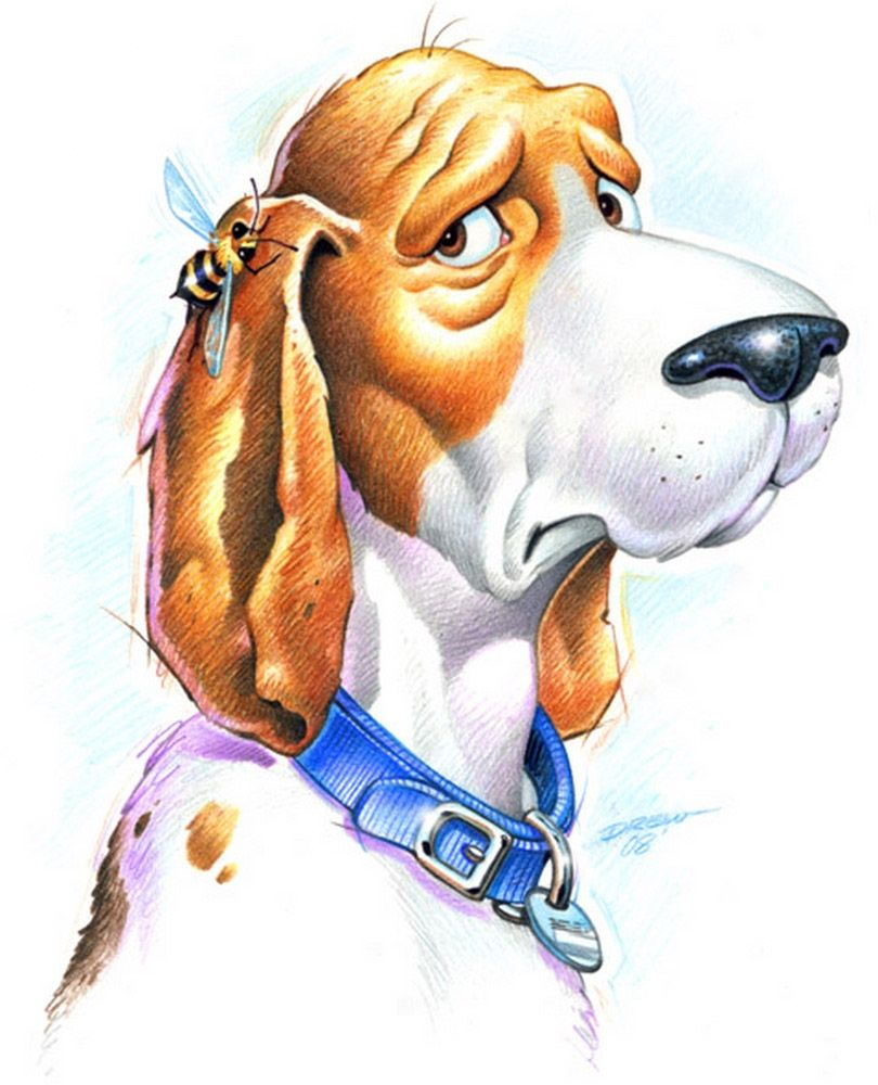 Собака рисунок смешные, ладошка сердечком
