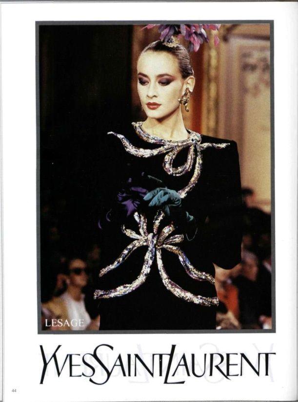 65b8ce2c32d 1987-88 - Yves Saint Laurent collection | Yves Saint Laurent in 2019 ...