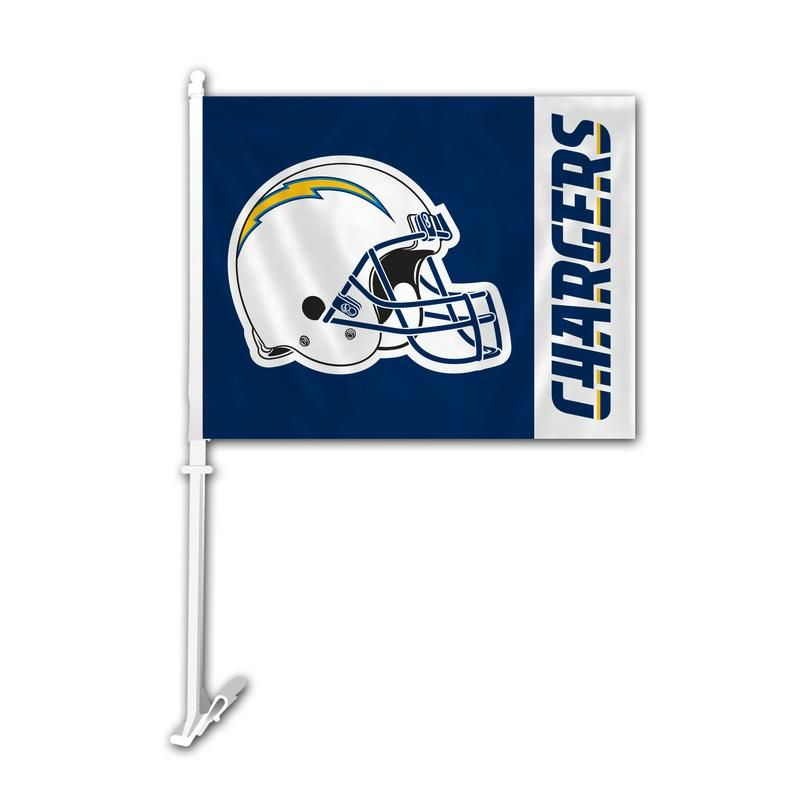 Los Angeles Chargers Flag Car Style Chargers Car Flags Nfl Football Helmets
