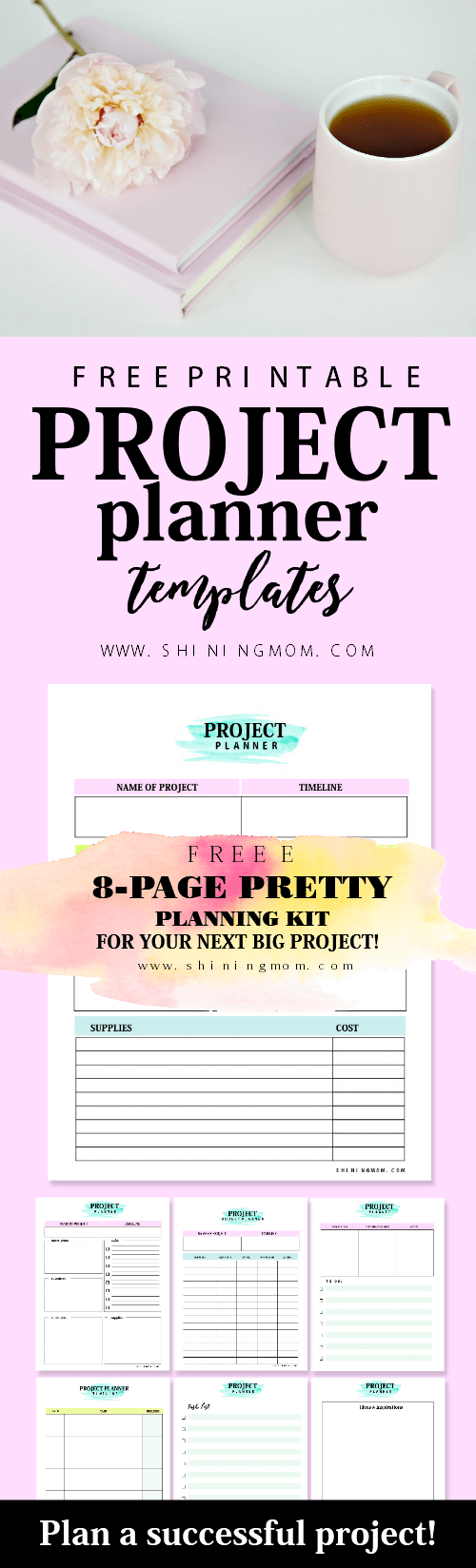 Free Project Planner Template Project Plan Template Get Your Free Pretty Planner  Project .