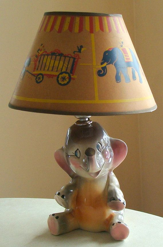 RESERVED for MONICA 1950's Circus Elephant Lamp   Retro ...